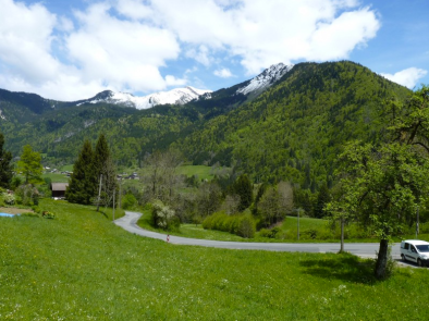 The view from the apartments & studios for sale with Leggett Morzine/Les Gets