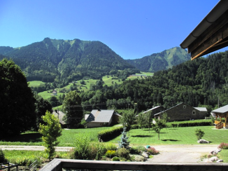 Abondance chalet view in summer