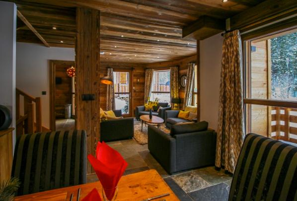 Living room area in 4 bedroom Morzine chalet