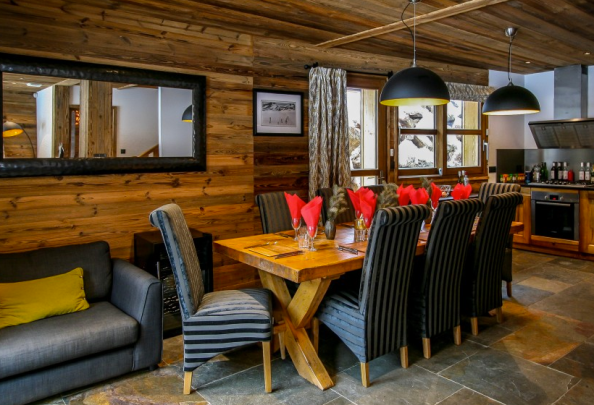 Social area of chalet for sales in Morzine