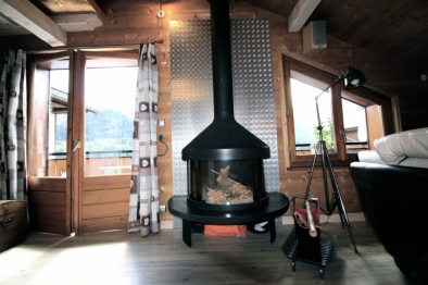 house with wood burner for sale in morzine