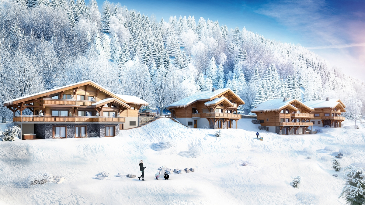 New build Morzine ski chalets - Leggett